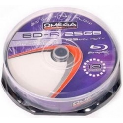 BD-R DL Tarrina 10 Unidades Printables Omega Freestyle 25GB