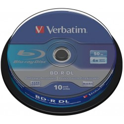 BD-R DL Tarrina 10 Unidades Verbatim 50GB