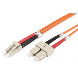 Cable de Fibra Duplex Multimodo OM2 LC/SC 2m Digitus