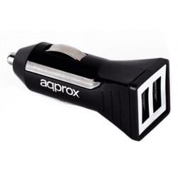 Cargador APPROX Coche 2xUSB...