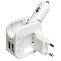 Cargador USB de Coche y Pared Swiss+go 2 en 1
