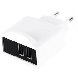 Cargador USB Approx Travel/Wall Blanco