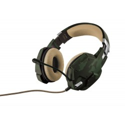 Auriculares con Micrófono Trust GXT 322C Verde Camuflaje